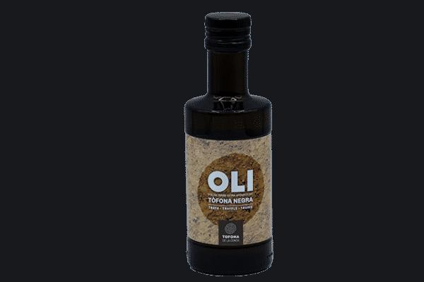 Aceite virgen extra de aceitunas arbequinas con trufa negra